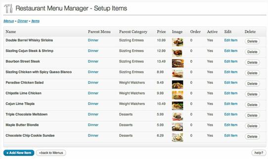 creazione siti web per ristoranti pizzerie 3_Easy_Restaurant_Menu_Manager_Plugin
