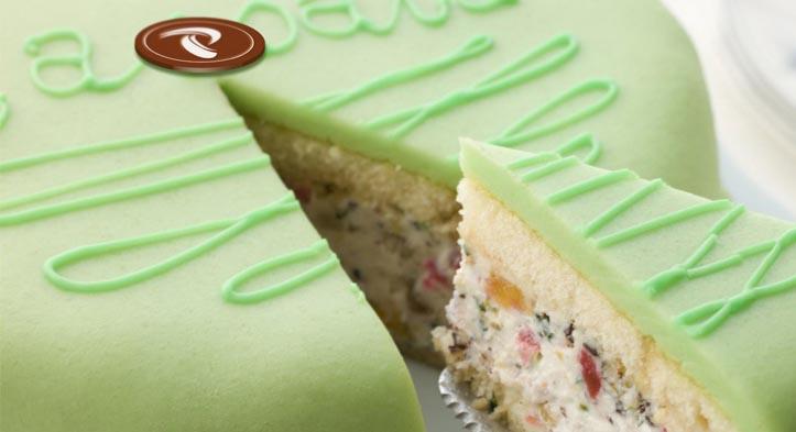 logo aziendale su cialda a cioccolato Pasticceria