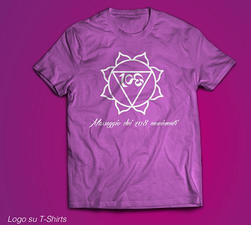 logo stampa su t-shirt logo massaggi