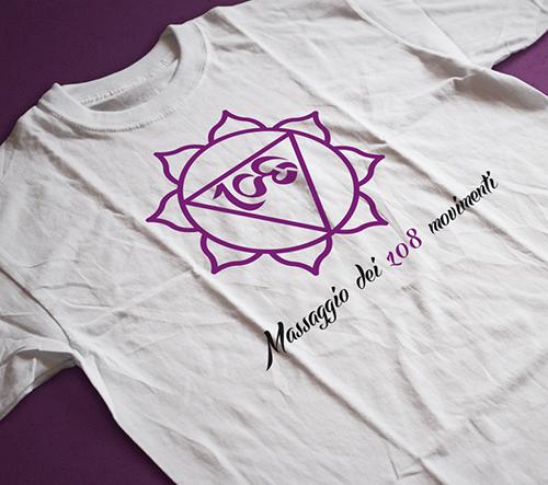logo stampa su magliette massaggi